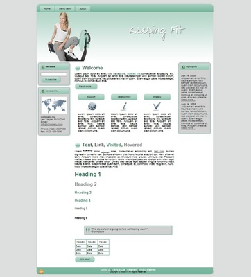 Product picture Keeping Fit 3 - WP/Blogger/HTML Theme